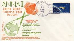 U S A  CAPE CANAVERAL  Anna II Geodetic Satellite  31/10/62 - FDC & Commemoratives