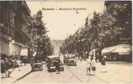 MARSEILLE (Bouches-du-Rhône) BOULEVARD DUGOMMIER AVEC SES VOITURES ANCIENNES. - Canebière, Centro Città