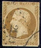 # France   10,  Used,  Sound,Clean   (fr010-1,  Michel 8   [16-EGE - 1852 Louis-Napoleon