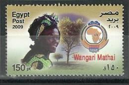 Egypt, 2009 ( Wangari Maathai - Nobel Prize Winner - Peace 2004 ) - MNH (**) - Nobelpreisträger