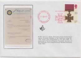 Freemasonry, Col. D J Dean, Member Of The Pathfinder Lodge #7255, Masonic Cover, Great Britain - Freemasonry