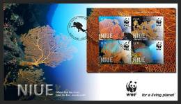 NIUE -2012 - Faune Marine, Coraux WWF - BF  FDC - Niue