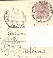 Visto Della VILLA SERBELLONI Lago Di Como NATANTE CULICO COMO Astano Mendrisio 1913 - Como