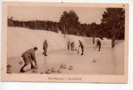 REf 85 CPA Le Grand Hotel De Font Romeu Le Curling Sport Légers Plis à Deux Angles Voir Scan - Other