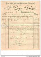 HERAULT - BEZIERS - HORLOGERIE - BIJOUTERIE - ORFEVRERIE & JOAILLERIE - APHE ROGER CHABERT - FACTURE + MANDAT - 1896 - France