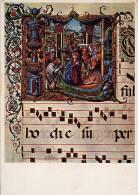 Santino Cartolina ADORAZIONE DEI PASTORI (Codice 479, Miniatura, Biblioteca Trivulziana) 1974 - OTTIMO E21 - Religione & Esoterismo