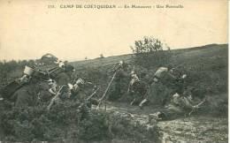 N°23142 -cpa Camp De Coetquidan -en Manoeuvre -une Patrouille- - Manovre