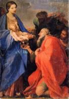 Santino Cartolina ADORAZIONE DEI MAGI Di Carlo Maratta 2000 - OTTIMO E24 - Religione & Esoterismo