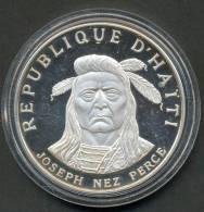 HAITI , 10 GOURDES 1971 , JOSEPH NEZ PERCE , SILVER PROOF - Haïti