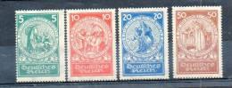 LOT 376 - ALLEMAGNE EMPIRE N° 344/47 (1924)  - PREMIERS SECOURS - Cote 160 € - Allemagne