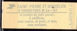 St PIERRE ET MIQUELON: 1986: Carnet De 10 Timbres (464a) - N° C464a** - Booklets