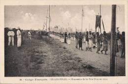 CONGO FRANCAIS BRAZZAVILLE PROCESSION DE LA FETE DIEU EN 1912  TRES ANIMEE - Congo Français - Autres