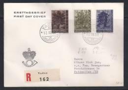 PZ--109--. SUPERBE LETTRE REC. De 1958 - N° 333/35,  Obl.  , COTE 25.00 € ,  Liquidation, - Liechtenstein