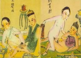 OPIUM -  Cartes Postales SEXE Et OPIUM -  Drogue, Asie. - Cartes Postales