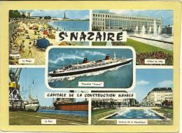 44  SAINT  NAZAIRE    VUE MULTIPLES   PAQUEBOT  FRANCE - Saint Nazaire