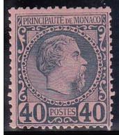 MONACO - 1885 - YVERT N°7 * CHARNIERE LEGERE - COTE = 125 EUROS - Monaco