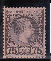 MONACO - 1885 - YVERT N°8 * CHARNIERE LEGERE - COTE = 415 EUROS - Neufs