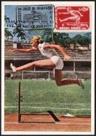 ATHLETICS - BRASIL RIO DE JANEIRO 1956 - VIII JOGOS DA PRIMAVERA - HANNELORE POETZSCHER - FLUMINENSE - OFFICIAL CARD - Atletica