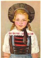 No.2551 Costumes Suisses: Zürich (Wehntal) Trachtenmädchen Mit O Zürich 1950 - Costumes