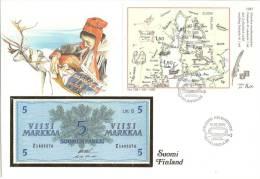 1985 Notenbrief Mit Block - Finlande