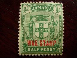 JAMAICA  1916 ARMS TYPE ´WAR STAMP´ OVERPRINT NO STOP After STAMP Variety MINT/HINGE. - Jamaica (...-1961)