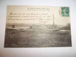 """2jfk - CPA  N°8 - BEAUMONT SUR OISE - Crue De L'oise 4 Mars 1910 - Usine Des Papeteries De """" L'AUTO """" - [95] Val D´Oise - Beaumont Sur Oise"""
