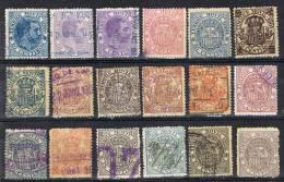 Lote 18 Sellos Diferentes Fiscal Postal España º - Post-fiscaal