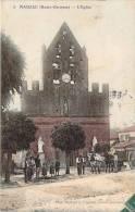 31 - Mauzac - L'Eglise (colorisée, Attelage) - Non Classés