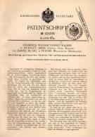 Original Patentschrift - F. Tannett In Hunslet , Leeds Und Petone , 1899 , Luft - Expansionsmaschine , Ventile !!! - Tools