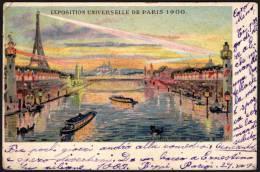 FRANCE PARIS 1900 - EXPOSITION UNIVERSELLE DE 1900 - ILLUMINATION DE LA SEINE - OLYMPIC GAMES PARIS 1900 - MAILED CARD