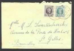 (J7483) Belgique - Houyoux N°196 + 194 Sur Lettre - 1922-1927 Houyoux