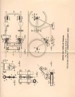 Original Patentschrift - C. Lampoltshammer In Saline Neusulza B. Sulza I.Th., 1900 , Kupplung Zweier Zweiräder , Tandem - Motorräder