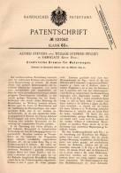 Original Patentschrift - W. Penney In Ramsgate , Kent , 1899 , Bremse Für Motorwagen , Automobile !!! - Cars