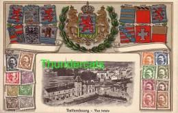 BETTEMBURG BETTEMBOURG VUE TOTALE CARTE EN RELIEF GAUFREE TIMBRES - Bettembourg
