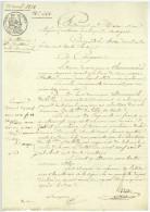 ALENCON Acte Notarié 1838 Masson Foucqueron Chennevieres Dumesnil De Tilly - Documenti Storici