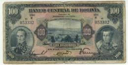 BOLIVIE : 100 Bolivianos 1928 (fine+) - Bolivia