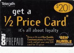 NEW ZEALAND - 2GO, Telecom New Zealand Prepaid Card $20, Exp.date 31/03/02, Used - Neuseeland