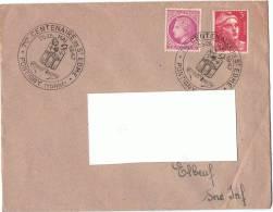 1947 - Enveloppe Lettre - 7ème Centenaire De St Edme  - Pontigny - Pour Elbeuf - Yvert Et Tellier N° 716 & Cérès 679 - Marcophilie (Lettres)