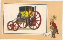 Coll. Du Chèque Tintin, Voir Et Savoir, Automobile Image N°8 Par Hergé, Voiture à Vapeur De Trevithick 1803, Milou - Chromos