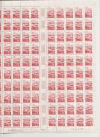 AUVERGNE - REGION FRANCAISE   ++  FEUILLE DE 100 TIMBRES A 2,80 FRANCS - Feuilles Complètes