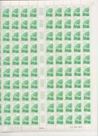 VOSGES - REGION FRANCAISE   ++  FEUILLE DE 100 TIMBRES A 2,40 FRANCS - Feuilles Complètes