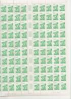BRETAGNE - REGION FRANCAISE   ++  FEUILLE DE 100 TIMBRES A 2,40 FRANCS - Feuilles Complètes