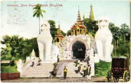 Entrance, Shwe Dagon Pagoda, Rangoon - Myanmar (Burma)