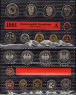 Deutschland 1991 Prägeanstalt A Stg 25€ Stempelglanz Im Kursmünzensatz Der Staatlichen Münze Berlin Set Coin Of Germany - [ 7] 1949-… : RFA - Rep. Fed. Alemana