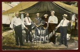 Cpa Du Canada Ontario Camp Of The Iron City Fishing Club --  Georgian Bay , On Grand Trunk Railway     PONT4 - Ontario