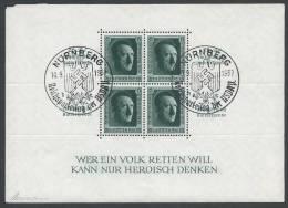 "ALLEMAGNE - Bloc Hitler Oblitéré ""Kulturspende""  Surchargé Reichsparteitag - Deutschland"