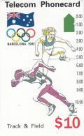 AUSTRALIA -  Barcelona 1992 Olympics/Track & Field(N91044-3-3), Used - Jeux Olympiques
