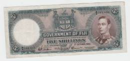 Fiji 5 Shillings 1940 VF+ Crispy RARE Banknote P 37c  37 C - Fiji