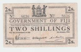 Fiji 2 Shillings 1942 VF P 50a 50 A - Fidji