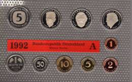 Deutschland 1992 Prägeanstalt A Stg 25€ Stempelglanz Im Kursmünzensatz Der Staatlichen Münze Berlin Set Coin Of Germany - [ 7] 1949-…: BRD